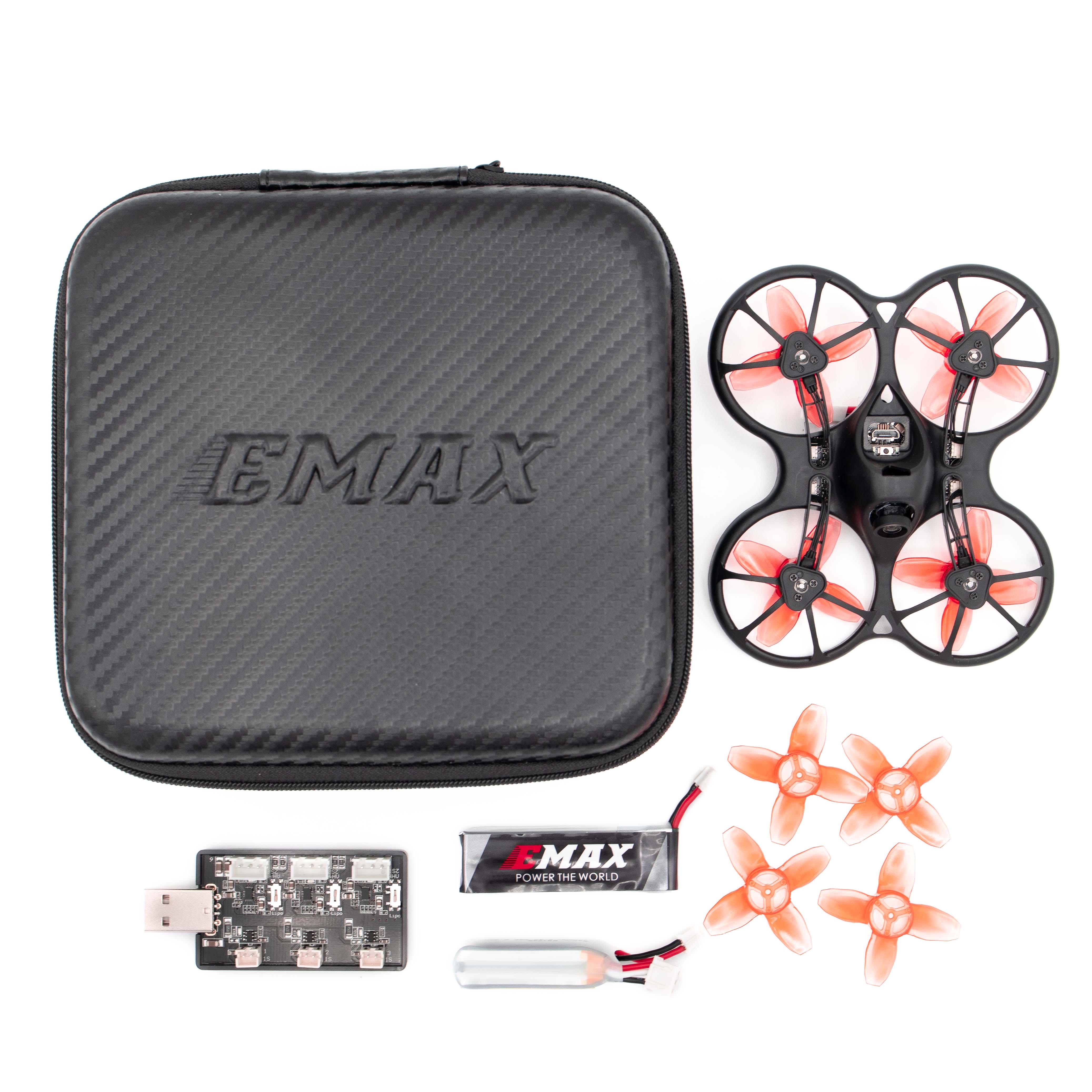 Más Emax 2S Tinyhawk S Mini FPV Racing Drone con cámara 0802 15500KV Motor sin escobillas 1/2S de la batería RC avión