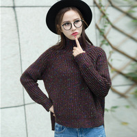 2018 Autumn Winter Sweater New Female Korean Color Loose Turtleneck Pullover Shirt Wholesale