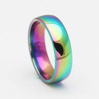 Rainbow 316L Stainless Steel Ring For Women Classic Love Forever Engrave Finger Rings Jewelry Fashion Men