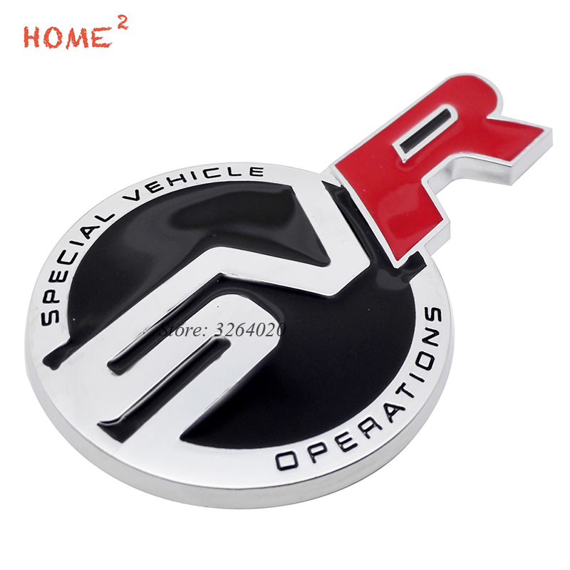 Car Styling Metal Emblem Stickers Auto Badge Decals Decor for SVR Logo for Land Rover Range Rover Discovery Aurora IR4 Defender