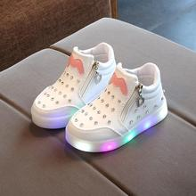 New 2018 fashion cute lovely baby girls boys shoes casual LED lighting glowing sneakers breathable light kids