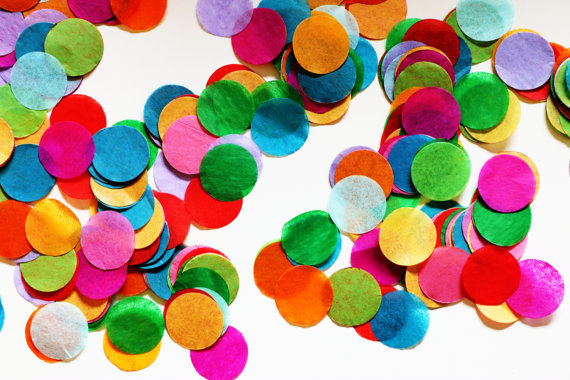 1 inch colorful round tissue paper confetti weddingtissue dots
