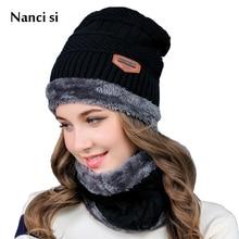 Brand Nanci si Winter Wool Ski Knitted Hats Scarf Set Head Hooded Cap Beanie Mask Balaclava Earmuffs Head Caps For Men Women цена
