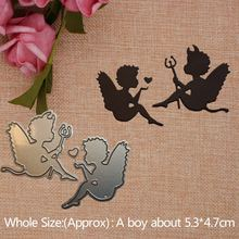 Angel and Demon 2019 New Metal Cutting Dies for Craft Scrapbooking Stamps DIY  Card Making Metal Cutting Dies   5.3*4.7cm недорого