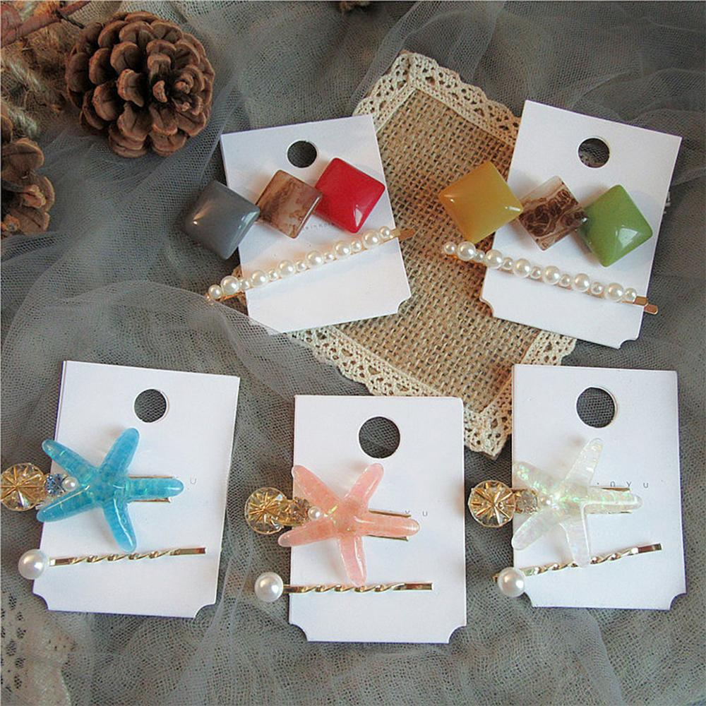 Hair Accessories Imitation Pearl Starfish Hairpin Shell Conch Hair Clips For Women Girl Seaside Beach Barrettes in Women 39 s Hair Accessories from Apparel Accessories