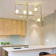 Modern Iron Glass VeniceM Pendant Lamp LED Lampadario iluminaria light for living dining room