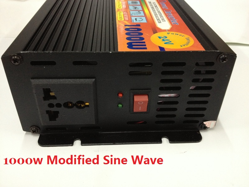 цена на 1000 Watt 1000W DC 24V to AC 220V Modified Sine Wave Car Power Inverter