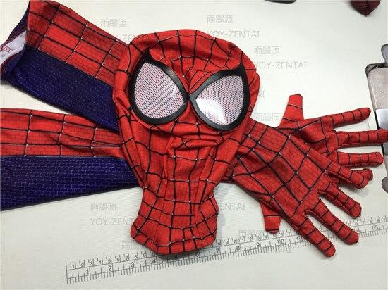 1 set 2016 marvel halloween The Amazing <font><b>SpiderMan</b></font> Fabric <font><b>Adult</b></font> Costume Mask lenses lens&<font><b>spiderman</b></font> <font><b>gloves</b></font>