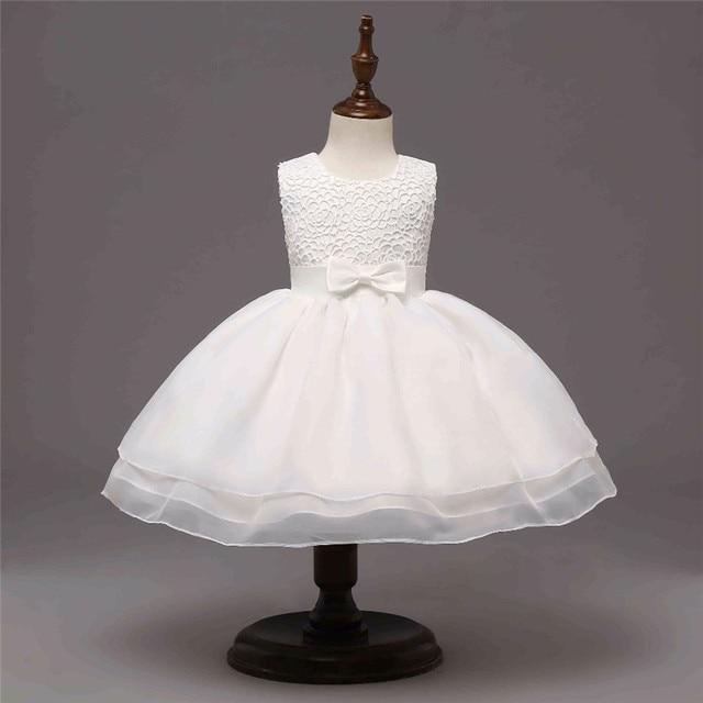 Newborn Baby Girl Dress White Christening Gown First Birthday Party ...
