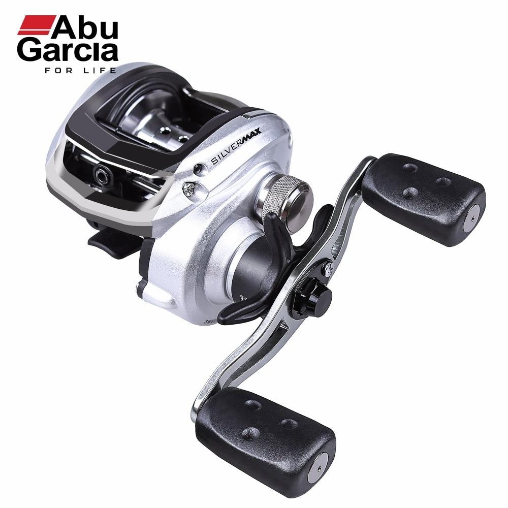 ABU GARCIA SILVER MAX3 SMAX3 6.4:1 Right Left Hand Bait Casting Reel 5+1 Bearings 8KG Drag Baitcasting Fishing Reel 207g Weight