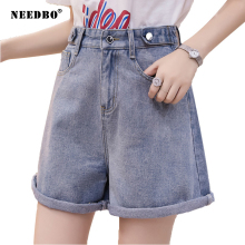 NEEDBO Denim Shorts Women High Waist Sexy Jeans Ladys Plus Size Casual Vintage Summer Femme Hot Short
