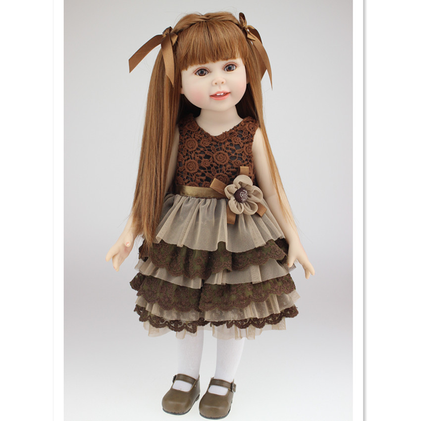 45 CM American Girl Doll Princess Dolls Best Birthday Valentine's Day Gift for Girls Toys,18 Inch Girls Dolls Reborn Babies Doll 22 inches sweet girl dolls brown hair 55cm doll reborn baby lovely toys cute birthday gift for girls as american girl