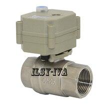 AC110V ~ 230 V DN25 válvula de bola eléctrica de 2 vías, CR2-02 de acero Inoxidable, Válvula de Bola Motorizada CR5-02