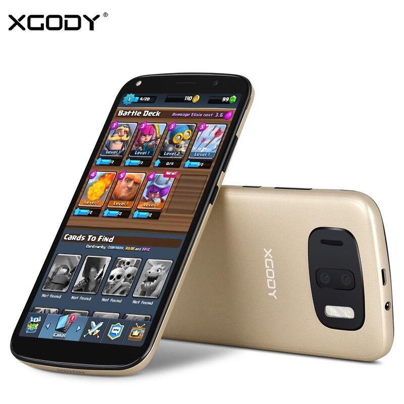 XGODY Y24 3g Déverrouiller 6 pouce 18:9 Visage ID Mobile Téléphone Android 6.0 2780 mah MTK6580A Quad Core 1 gb RAM 8 gb ROM Smartphone 13.0MP