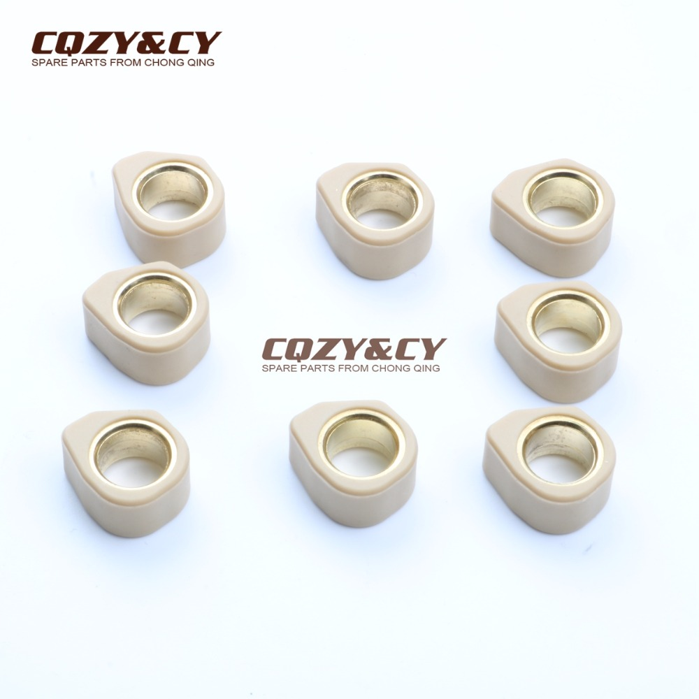 8PC Racing Quality Roller Weights 20x12mm 11g For YAMAHA 250 Majesty X-City X-Max 250cc