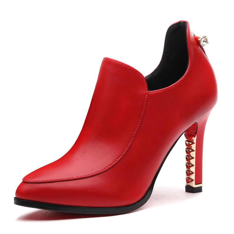 Hot Sale New Arrive Fashion Autumn Diamond Heel Shoes Woman High Heels Pointed Toe Balck Ladies Pumps Size 34 39 YG A0062 in Women 39 s Pumps from Shoes