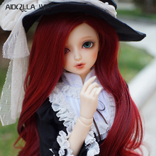 цены Bjd Wig Size 7-8 inch 1/4 High-temperature Wig Girl Long Hair Doll Wig in Beauty Red Doll DIY Making & Repair Accessory