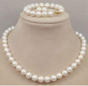 Noble jewelry 10-11MM NATURAL SOUTH SEA WHITE PEARL BRACELET NECKLACE EARRINGNoble jewelry 10-11MM NATURAL SOUTH SEA WHITE PEARL BRACELET NECKLACE EARRING