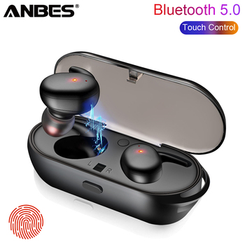 eb2d78af56c ANBES TWS Wireless Mini Bluetooth 5.0 Earphone Touch Headphone For Samsung  iphone Stereo Earbud Sport Headset
