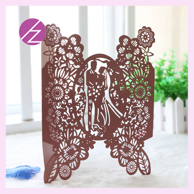 Price For Wedding Invitations: 12pcs/lot Romantic And Sweet Love Beautiful Wedding Card