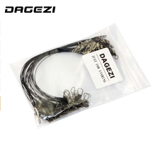 DAGEZI 30PCS/lot Fishing Line Steel Wire Leader fishing tackle box fishing gear accessories Connector copper swivel