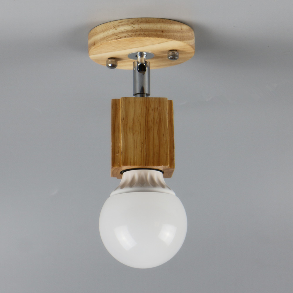 Modern ceiling lamp led indoor light oka wood pendant the for Ceiling lamp wood