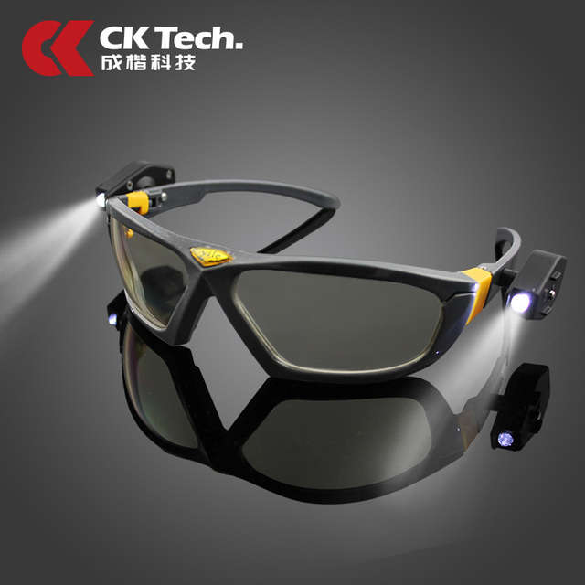 CK Tech Brand Safety Glasses Work Protective Airsoft Goggles Riding Gafas Eyeglasses Bike Bicycle Cycling Eyewear With Lamp 138