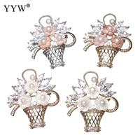 Luxury Top Quality Real Freshwater Basket Pearl Brooch Pins Pearl Brooch Multi Color Shell Women S