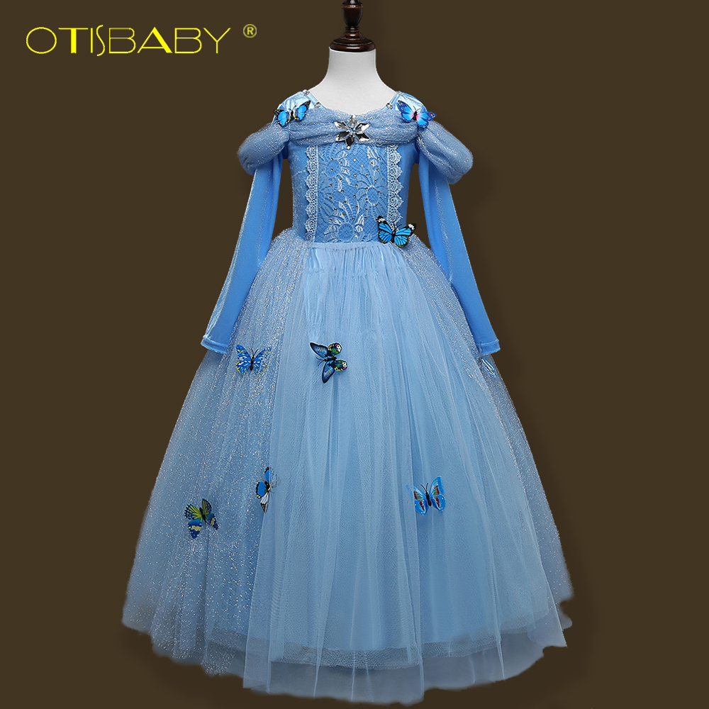Fairy Girls Sophia Princess Party Fancy Dress Halloween Cosplay Costume for Girls Cinderella Dress Elsa Tutu Dress 3D Butterfly devil may cry 4 dante cosplay wig halloween party cosplay wigs free shipping