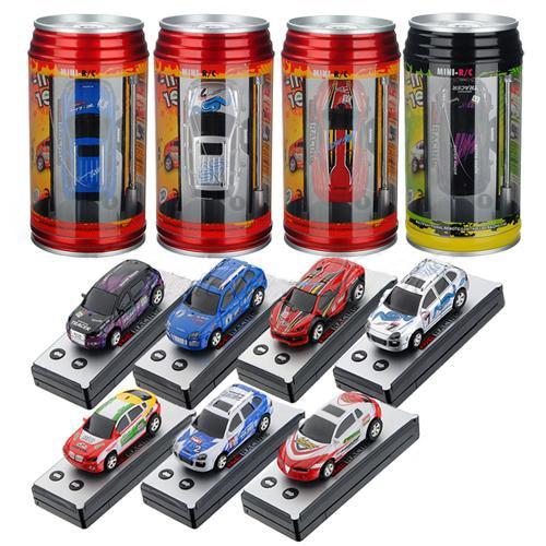 WLtoys Mini Coke Can Speed RC Radio Remote Control Micro Race Random color