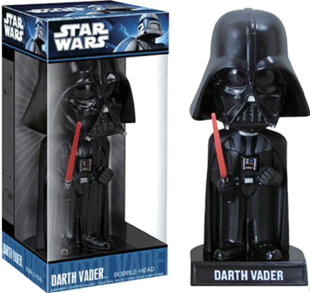 TV Star Wars Darth Vader Wacky Wobbler Bobble Head PVC Action Figure Collection Toy Doll 16cm  funko pop marvel loki 36 bobble head wacky wobbler pvc action figure collection toy doll 12cm fkg120