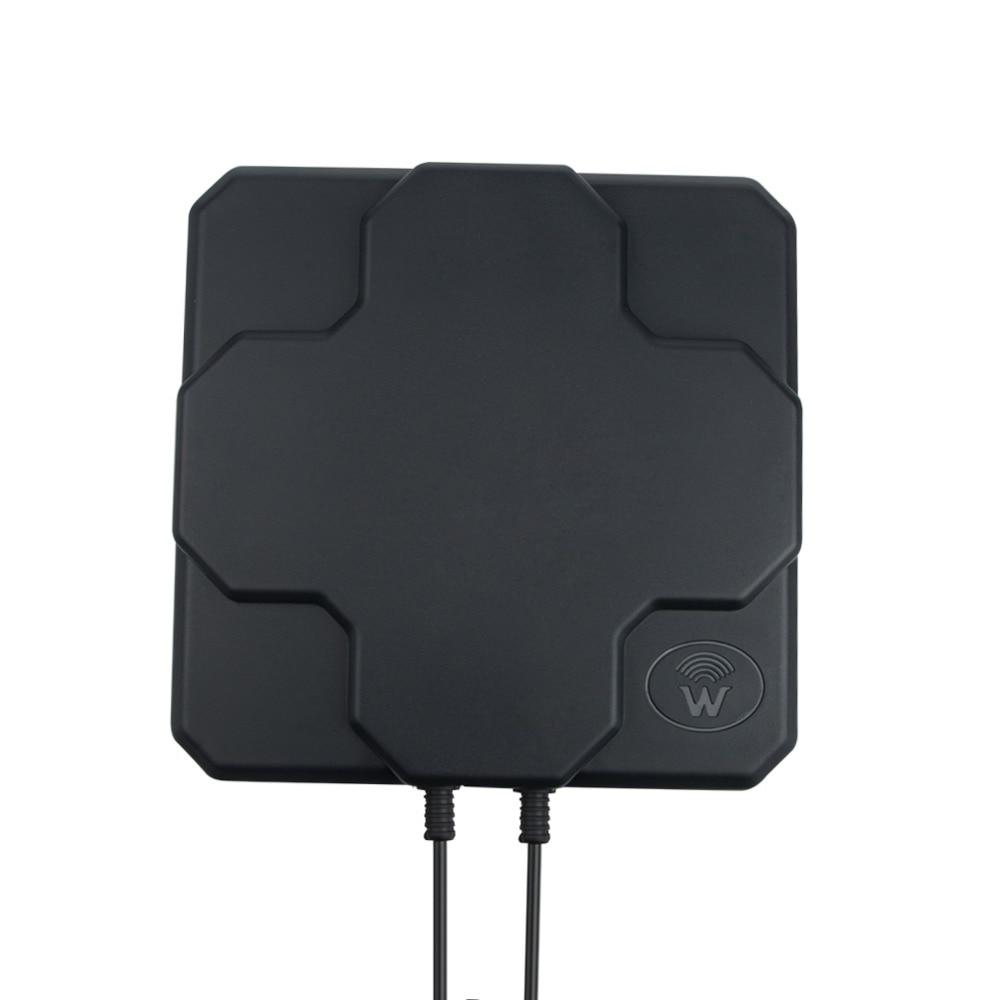 2*22dBi outdoor 4G LTE MIMO antenna,LTE dual polarization panel antenna SMA -Male connector (white or black) 60CM cable
