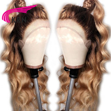 KRN #4/27 Ombre Brazilian Lace Front Human Hair Wig