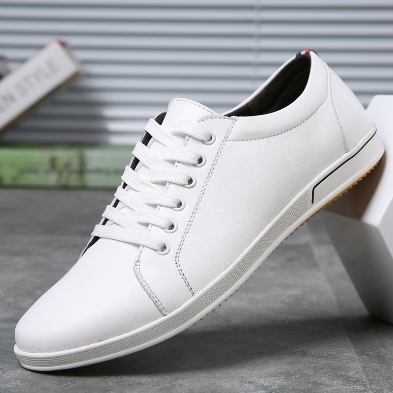 2019 Brand Designer Men's Casual Shoes Summer Breathable Fashion White Sneakers Men Leather Shoes Loafers Espadrilles Men