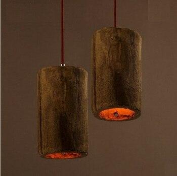로프트 스타일 산업 시멘트 droplight 에디슨 빈티지 펜 던 트 전등 다이닝 룸 매달려 램프 실내 조명