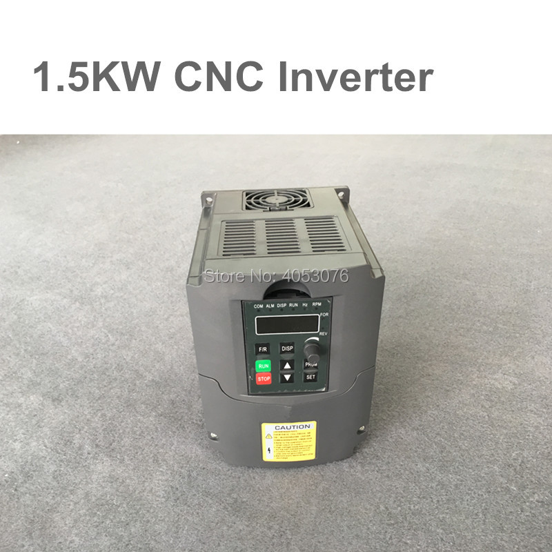CNC Spindle motor speed control 220V 1.5kw VFD Variable Frequency Drive Inverter 1HP or 3HP Input 3HP Output for cnc driverl