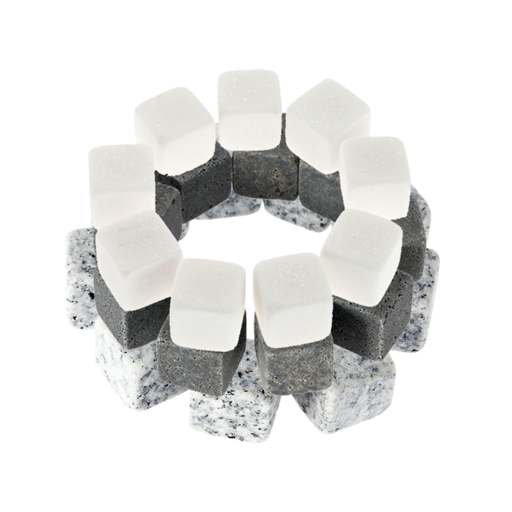 9 PCS Whisky Stones ice cooler 3 Colors Drinks Cooler Cubes Beer Rocks Granite with Pouch Wine Cooler Whisky Stones