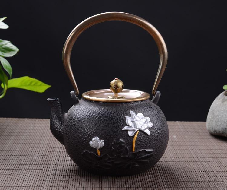 Bergamot lotus iron pot Cooking pot Thorn paint potBergamot lotus iron pot Cooking pot Thorn paint pot