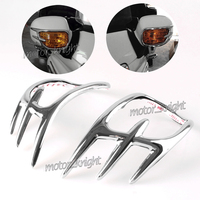 Left Right Motorcycle Show Chrome Pair Fairing Mirror accent grilles Back Accent Grilles for Honda Goldwing GL1800 2001 2016