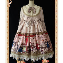 Baby Doll House ~ Sweet Printed Long Sleeve Lolita Dress by Infanta(China)