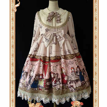Baby Doll House ~ Sweet Printed Long Sleeve Lolita Dress by Infanta - DISCOUNT ITEM  10% OFF All Category