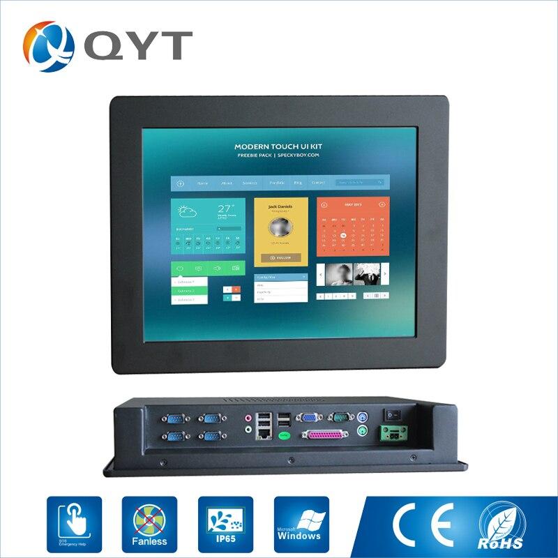 """15 """"поместить ПК IP 65 Сенсорный экран Разрешение 1024×768 панели ПК/промышленный компьютер с Intel Celeron C1037U 1.8 ГГц LPT/5 * RS232"""