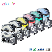 Labelife 6 Pack 12mm Combo tape ST12KW SS12KW SC12YW SC12RW SC12GW SC12BW for Epson LabelWorks Cartridges & Ribbons Multi-Color