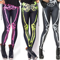 Funny European Fashion Style Colorful skeleton Pants 3D Galaxy Painted Ladies fitness leggings