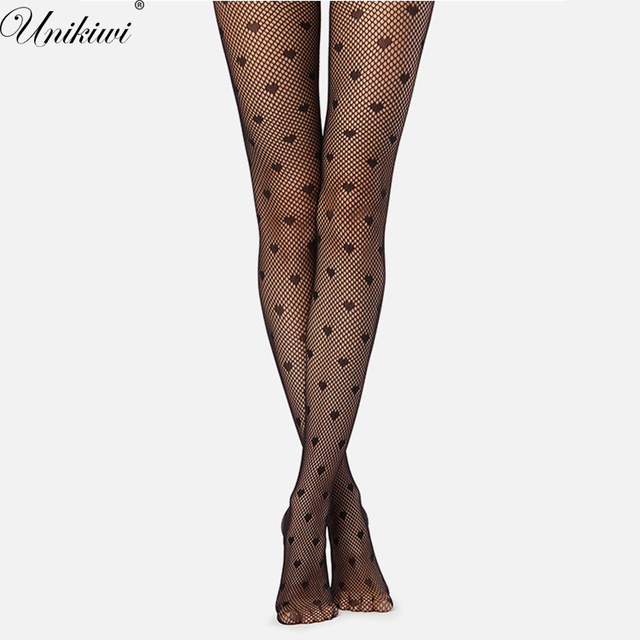d166a3131 Women s Tights Love Heart Fishnet Stockings.Sexy Ladies Faux Tattoo Hollow  out Mesh Fishnet Pantyhose Female Club Party Hosiery