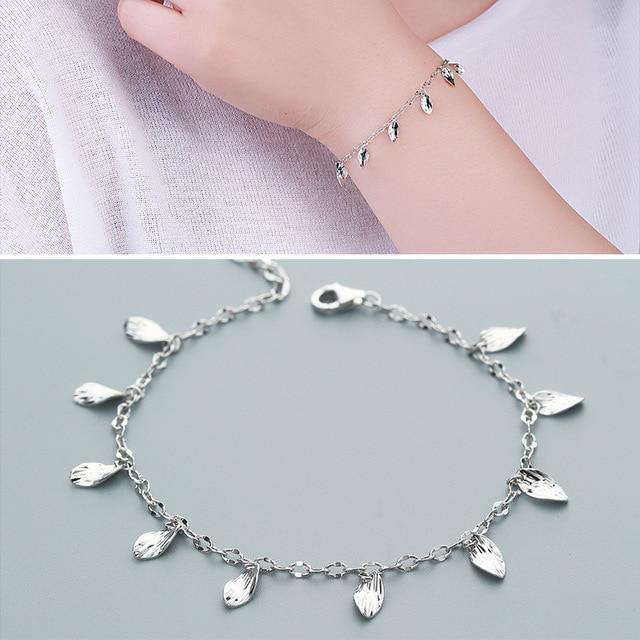 Factory Direct Sales S925 Silver Bracelet Small Fresh Silver Silver Bracelet