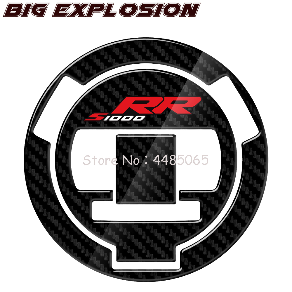 For BMW S1000RR S1000 RR 2014, 2015, 2016 Motorcycle Protector Decals 3D Carbon Fiber Motorcycle Oil Fuel Gas Cap Cover Decal