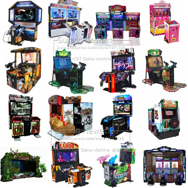NYST Suining Newest Amusement Equipment Coin Operated Simulator Gun Shooting Video Arcade Game Machine