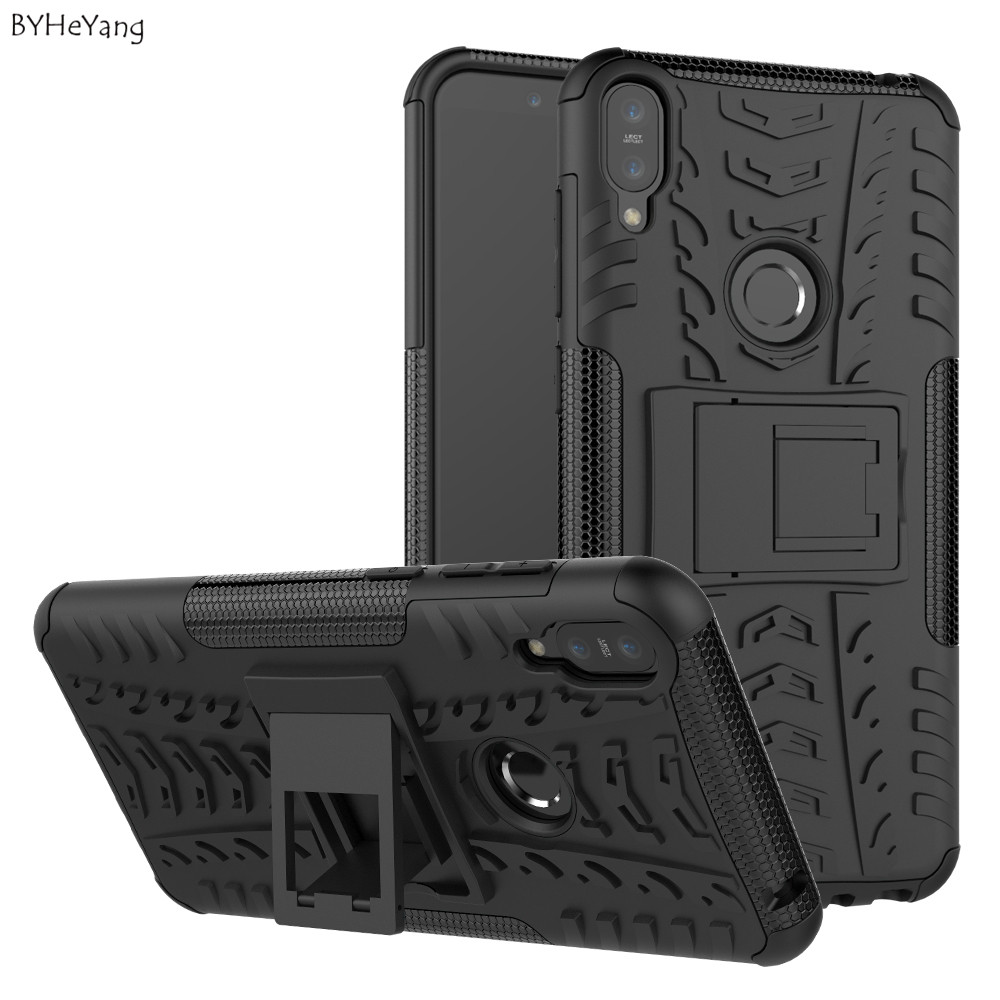 BYHeYang For Zenfone Max Pro M1 ZB601KL Case PC+TPU Armor Case Heavy Duty Kickstand Cover For Asus Zenfone Max Pro M1 ZB602KL