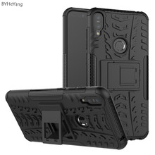 BYHeYang Için Zenfone Max Pro M1 ZB601KL Kılıf PC + TPU Zırh Vaka Ağır kickstand kapak Asus Zenfone Max Için pro M1 ZB602KL